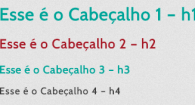 Exemplo de heading tags no site da Nauweb